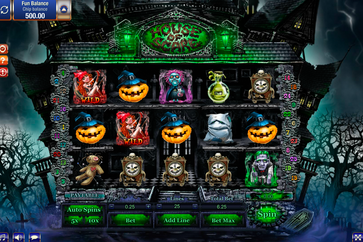 house of scare gamesos online slots