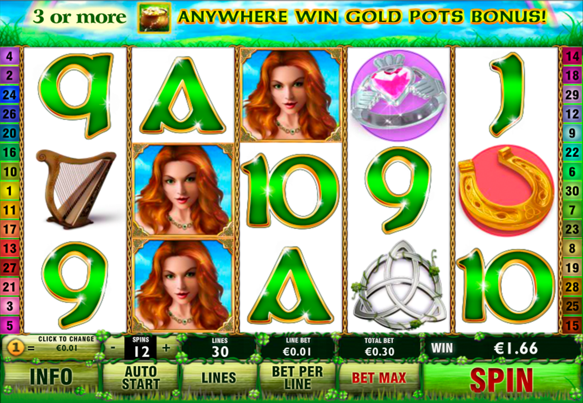 irish luck playtech online slots