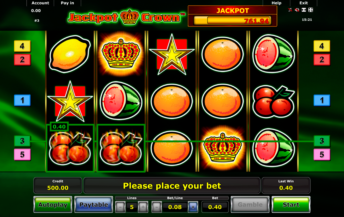 jackpot crown novomatic online slots