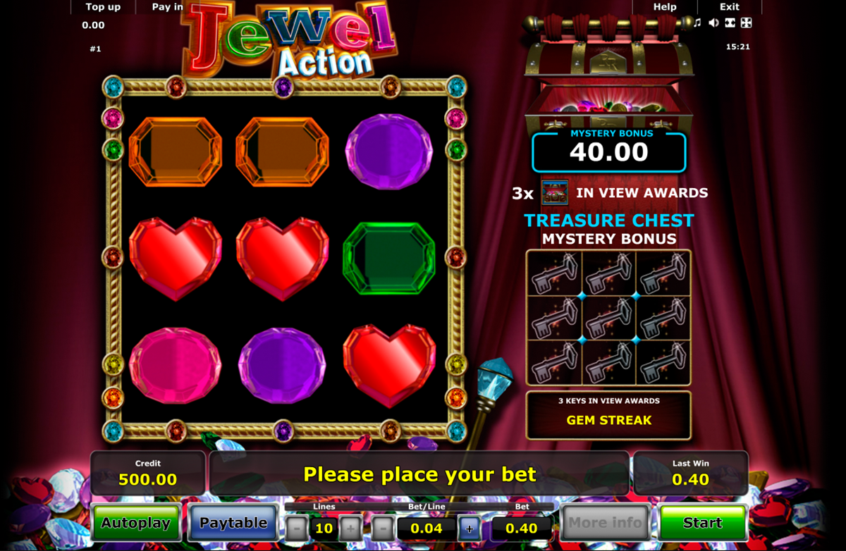 Jewel Action Slot Machine - Try the Online Game for Free Now