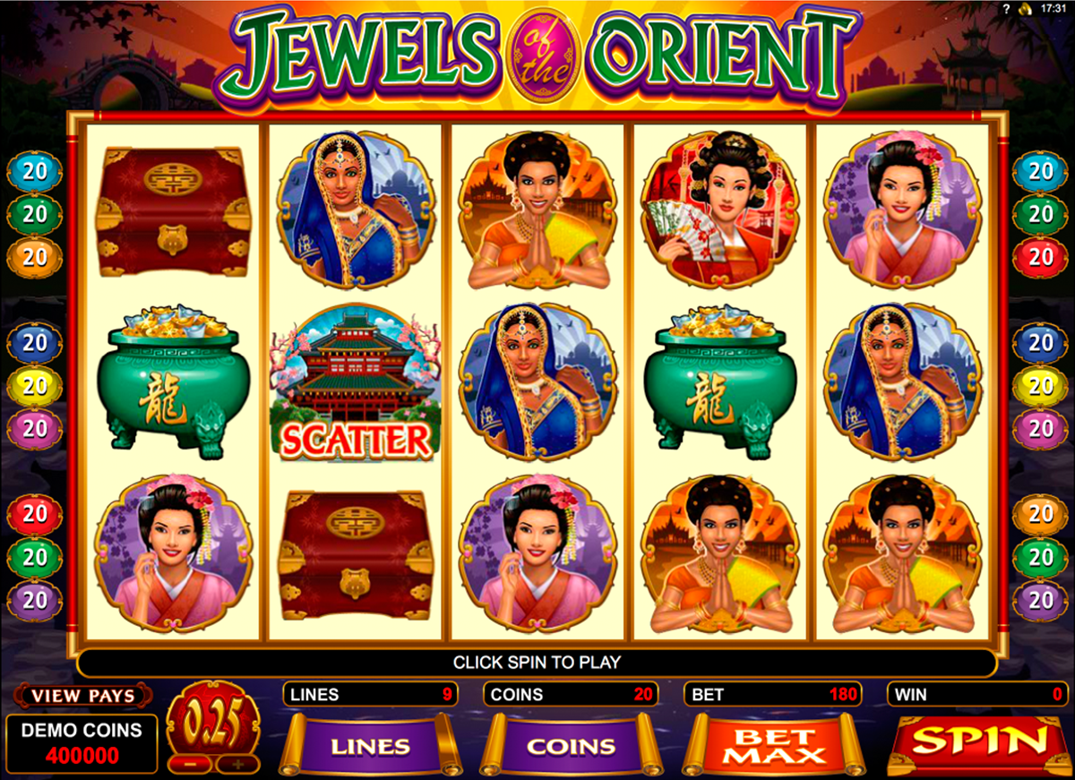 jewels of the orient microgaming online slots