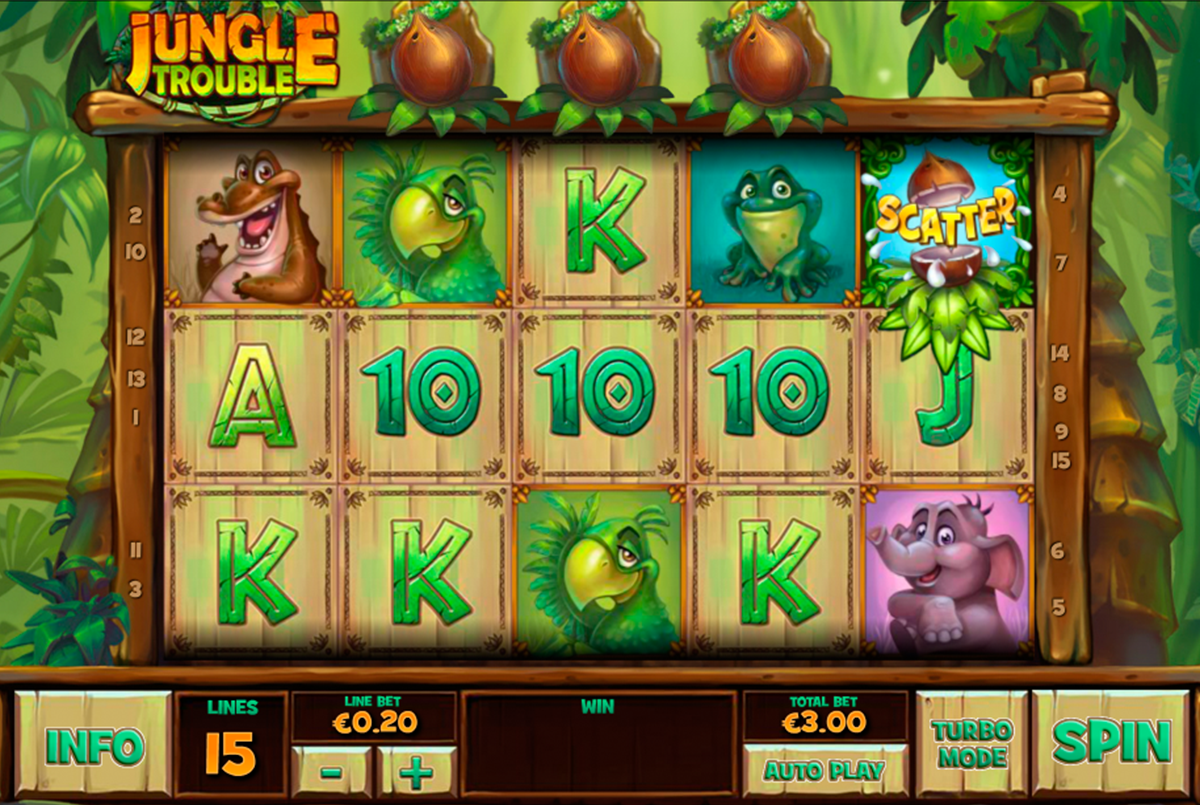 jungle trouble playtech online slots