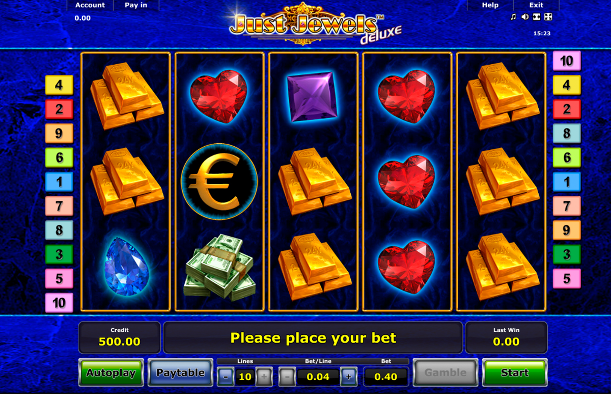 just jewels deluxe novomatic online slots
