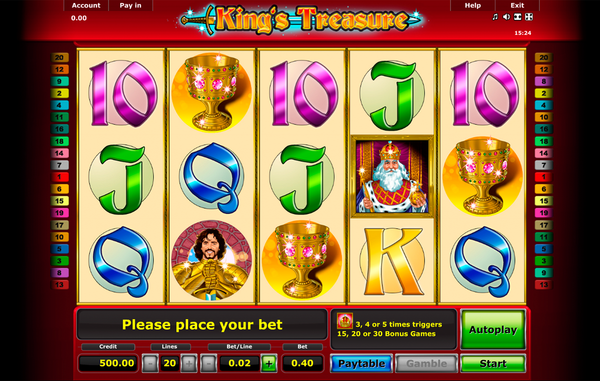 kings treasure novomatic online slots