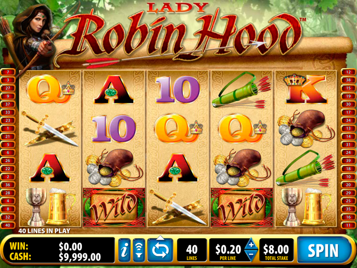 Lady Robin Hood Slots - Play Ballys Free Demo Game Online