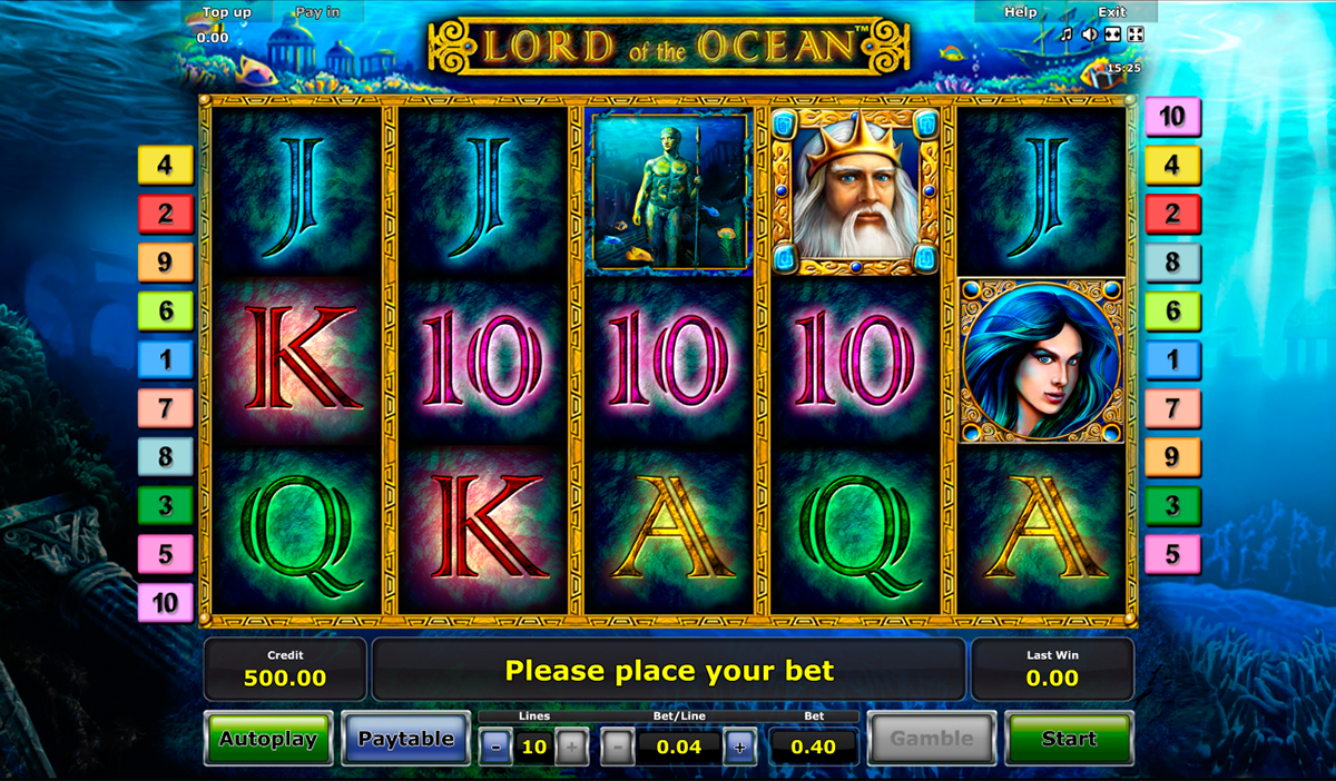 Lord of the Ocean™ Slot Machine Game to Play Free in Novomatics Online Casinos