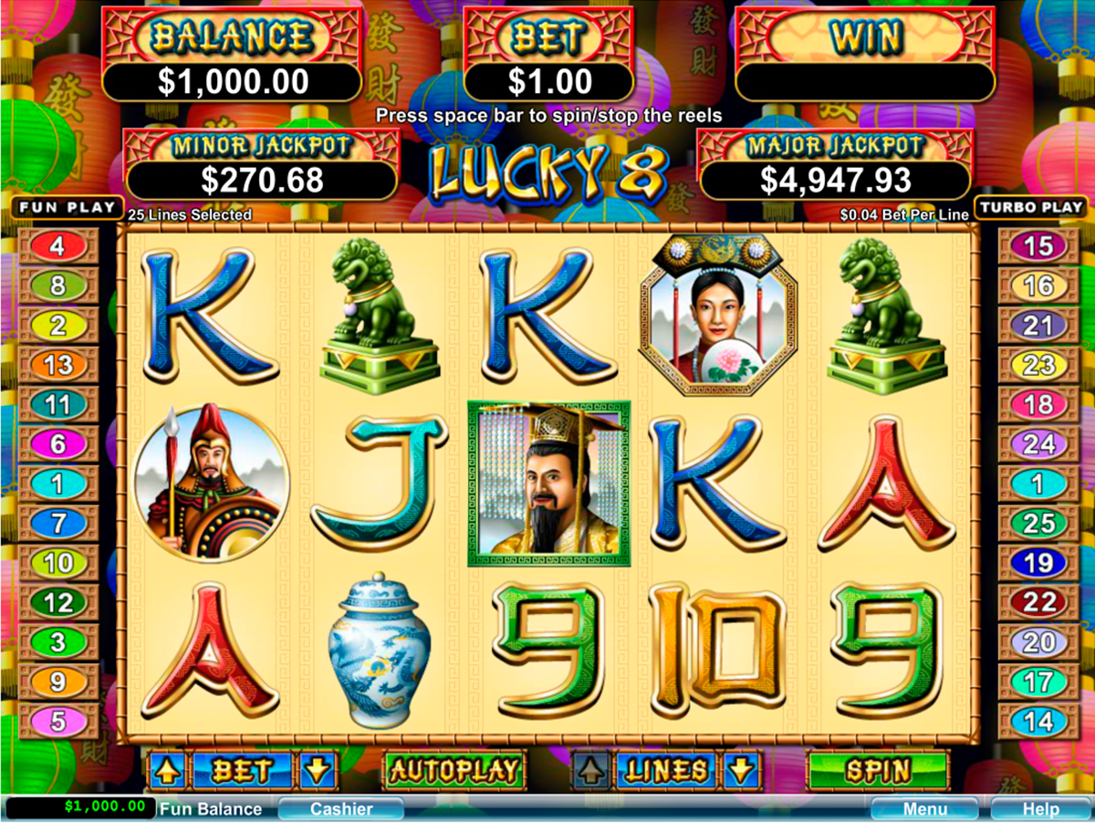 Lucky 8 Line Slots Free Play & Real Money Casinos