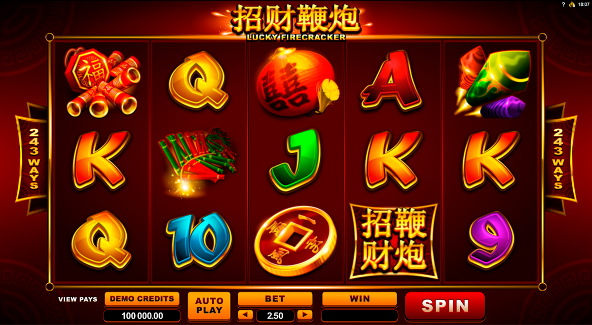 lucky firecracker microgaming online slots