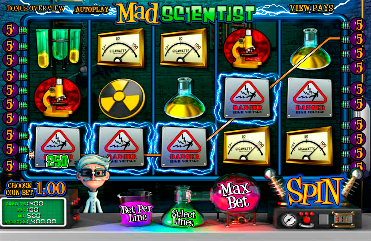 mad scientist betsoft online slots