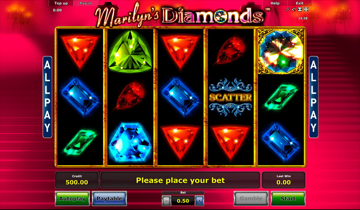 marilyns diamonds novomatic online slots