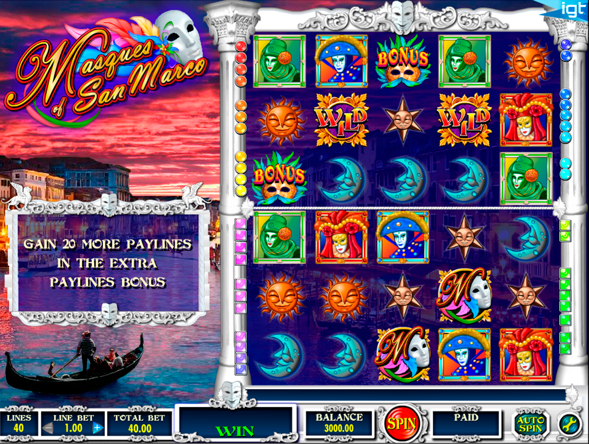 masques of san marco igt online slots