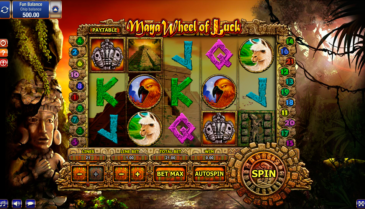 maya wheel of luck gamesos online slots