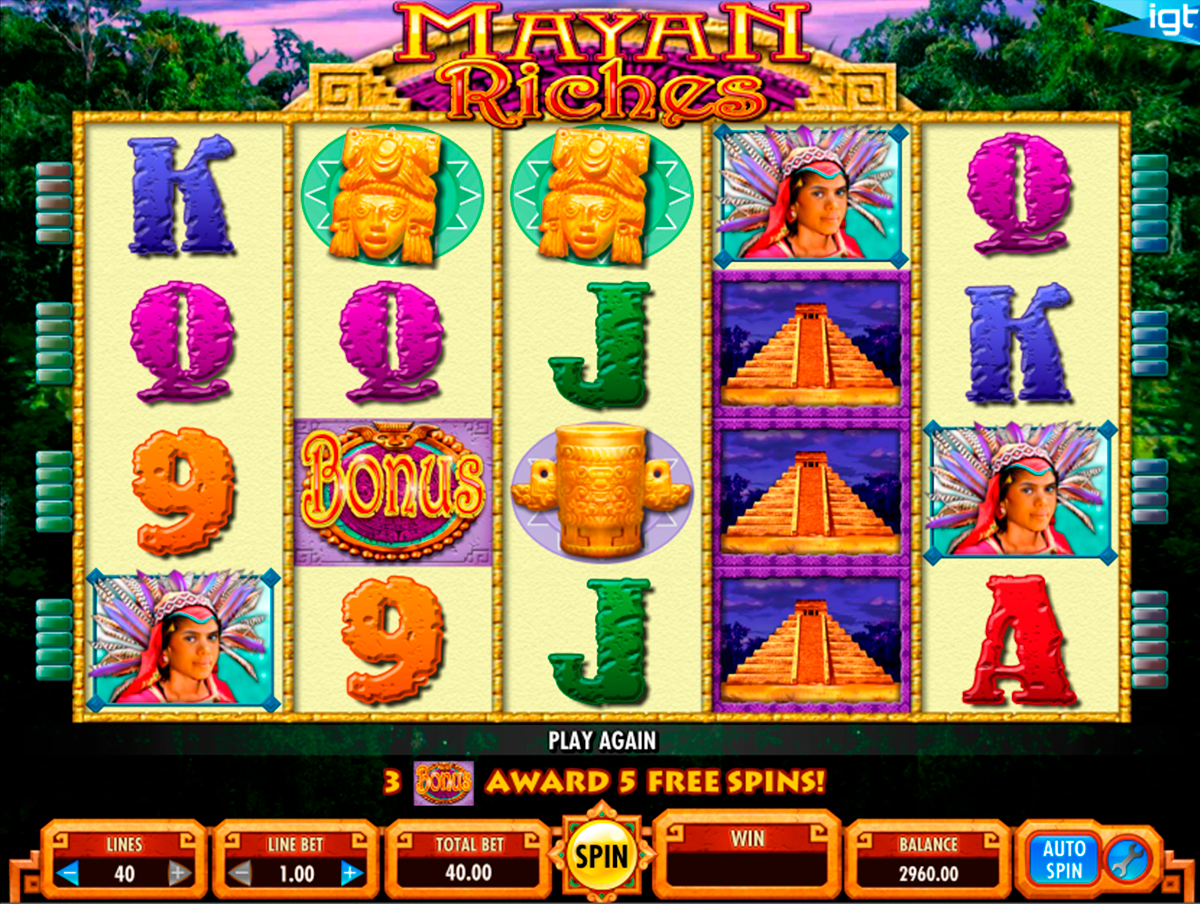 mayan riches igt online slots