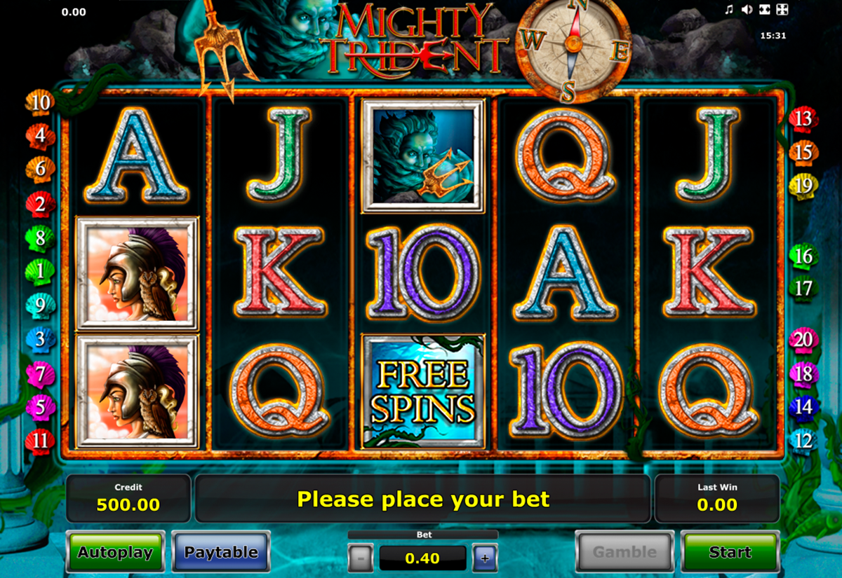 mighty trident novomatic online slots