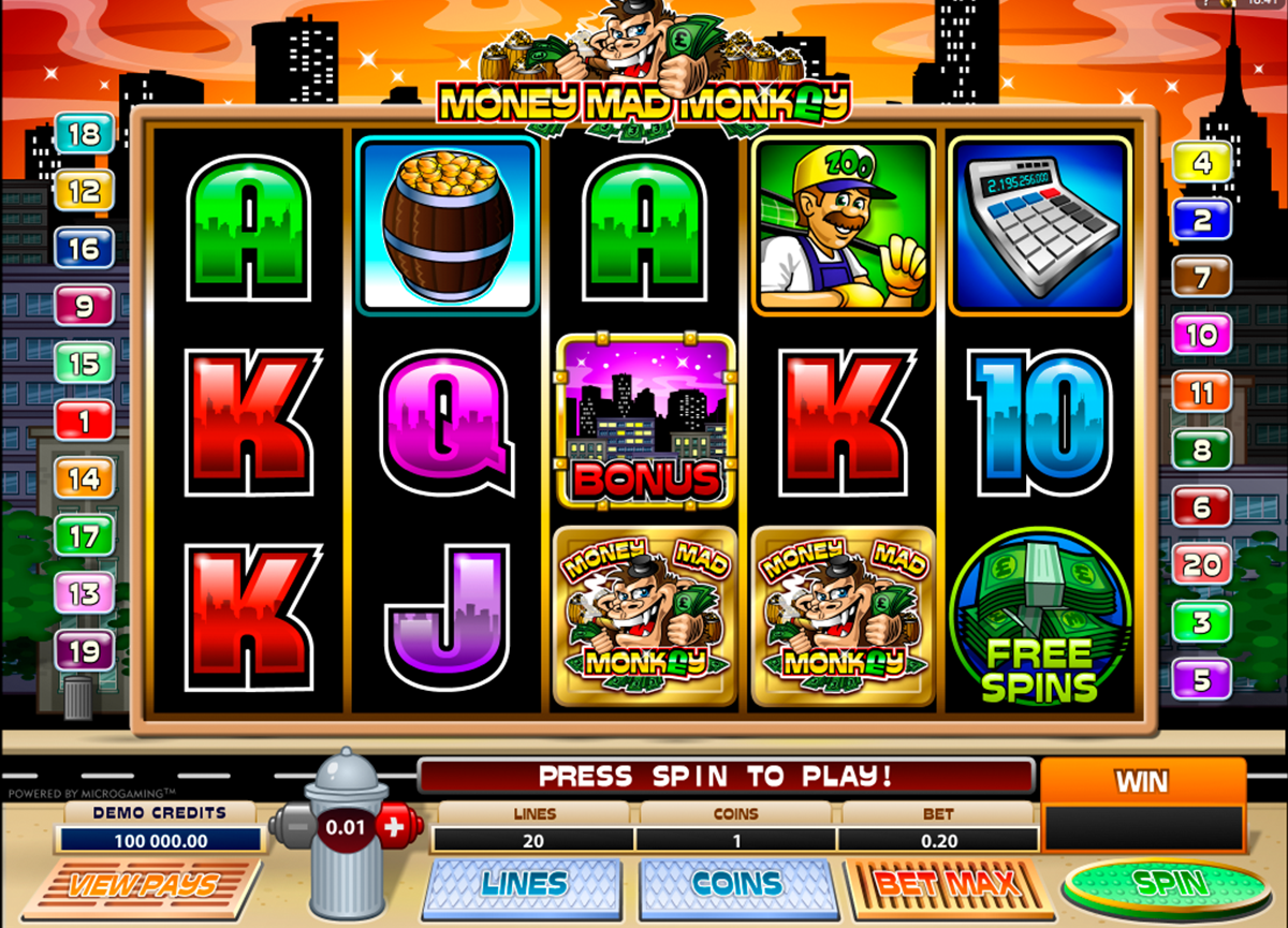 money mad monkey microgaming online slots