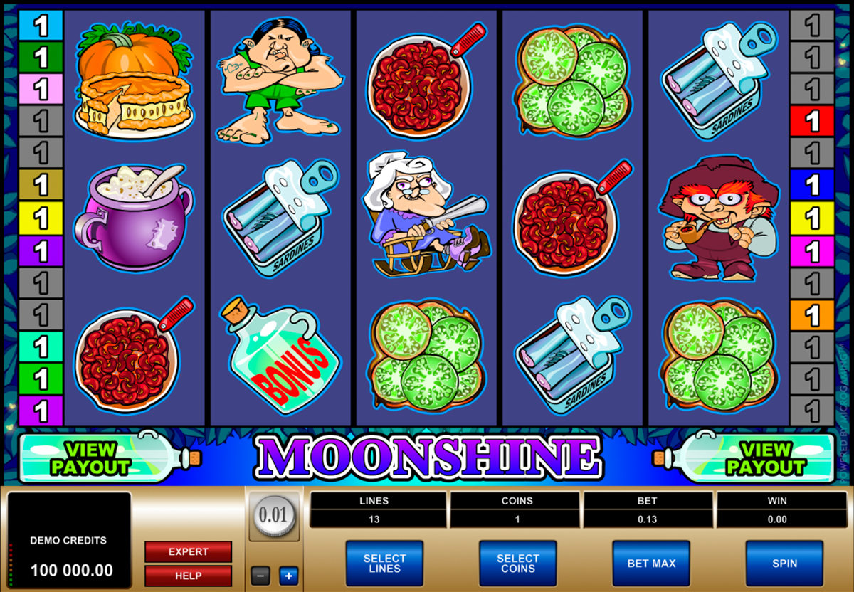 moonshine microgaming online slots