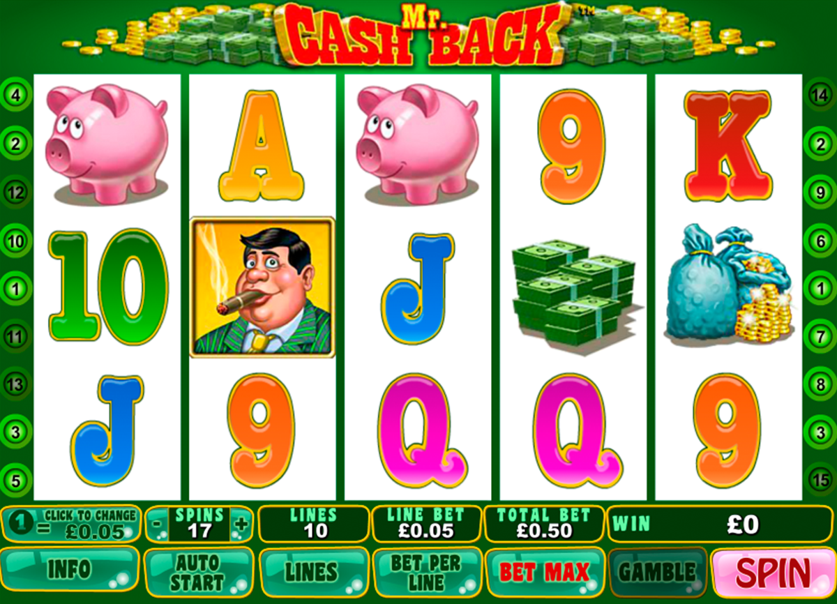 mr cashback playtech online slots