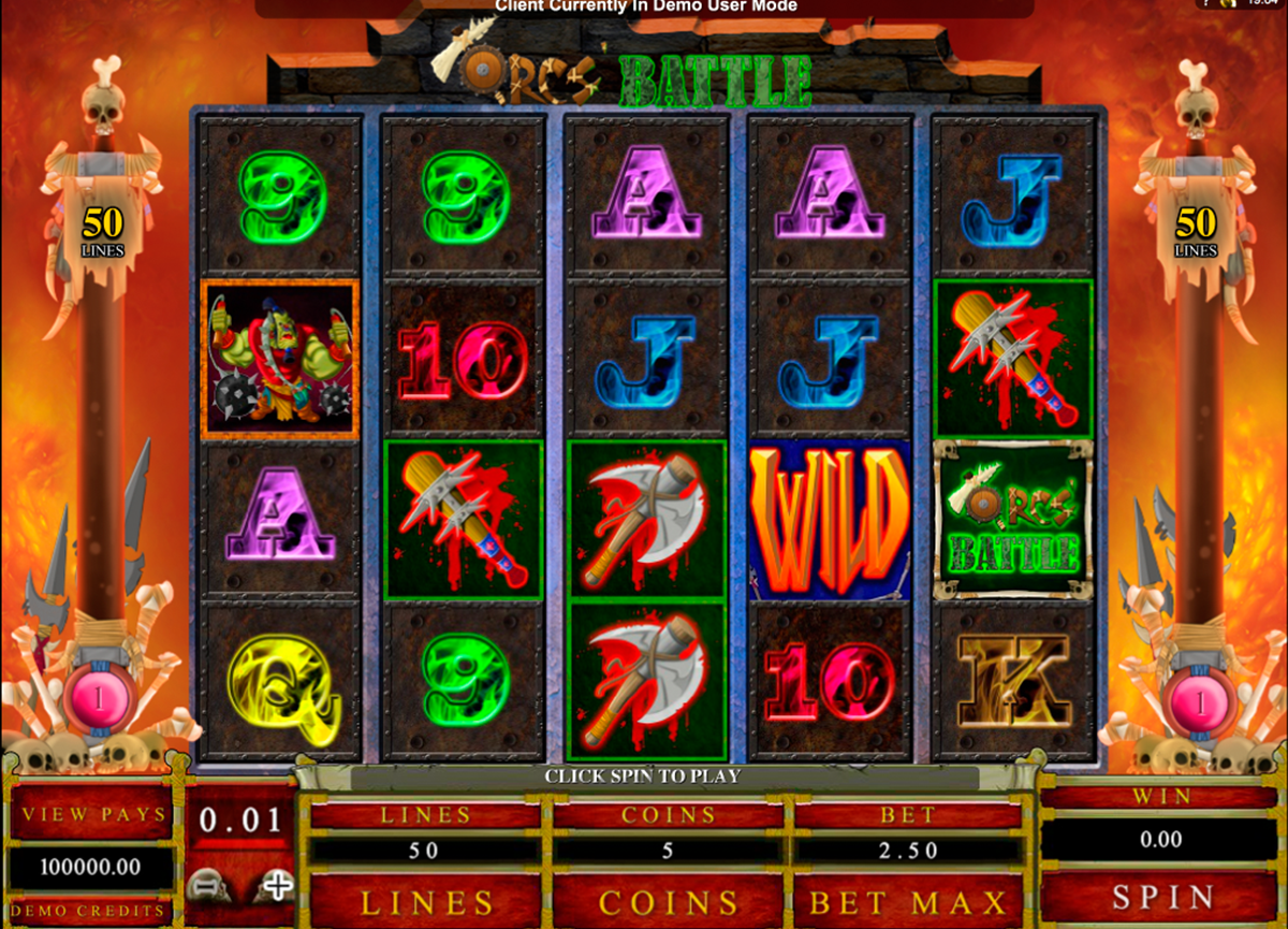 orcs battle microgaming online slots