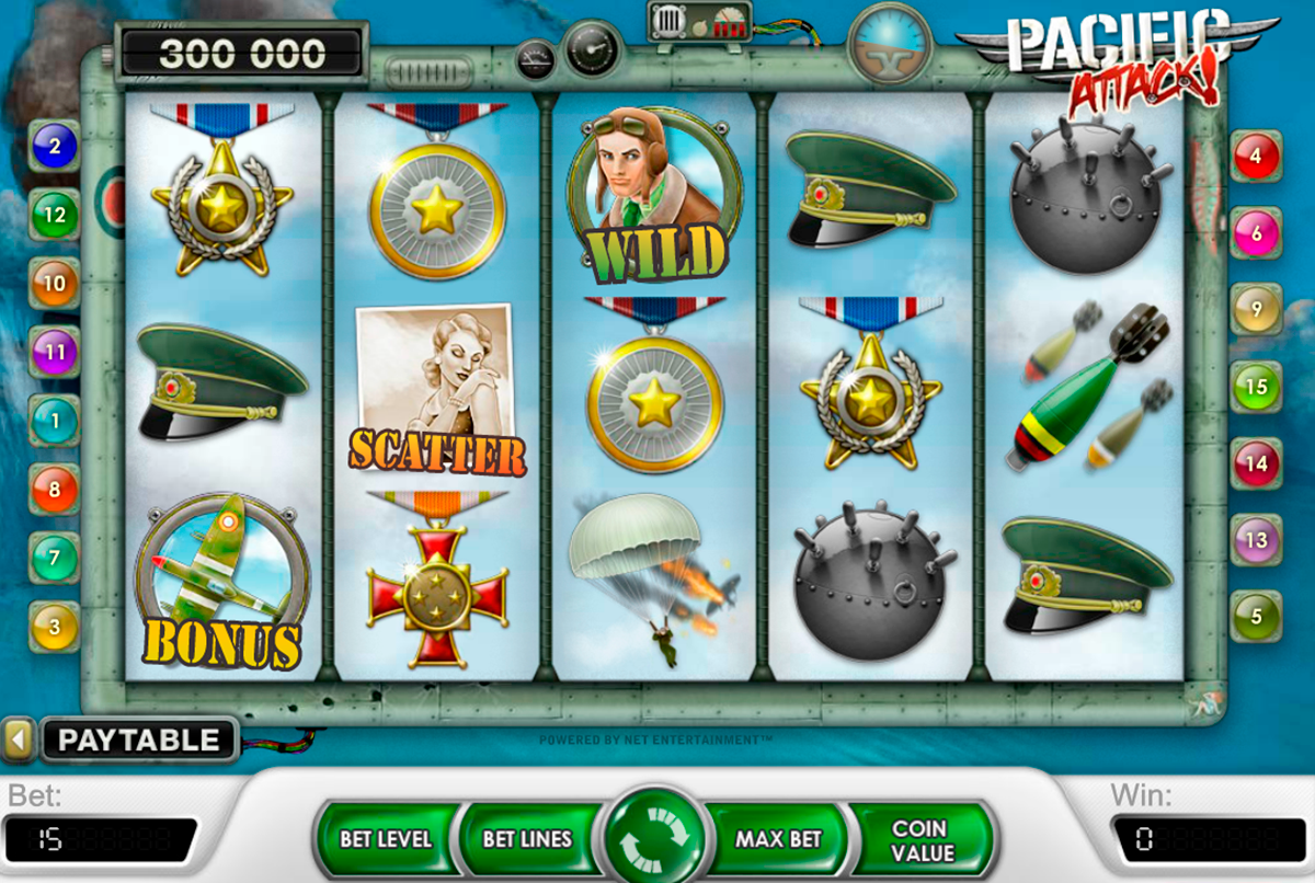 pacific attack netent online slots