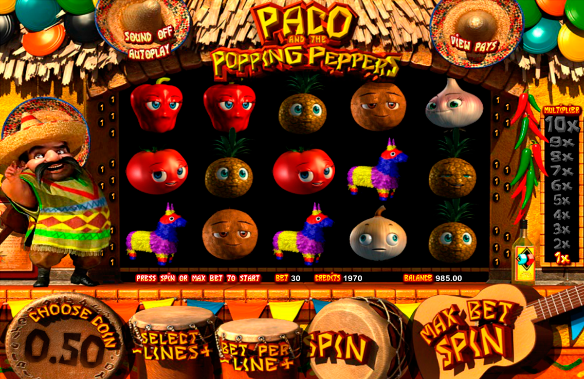 paco and the popping peppers betsoft online slots
