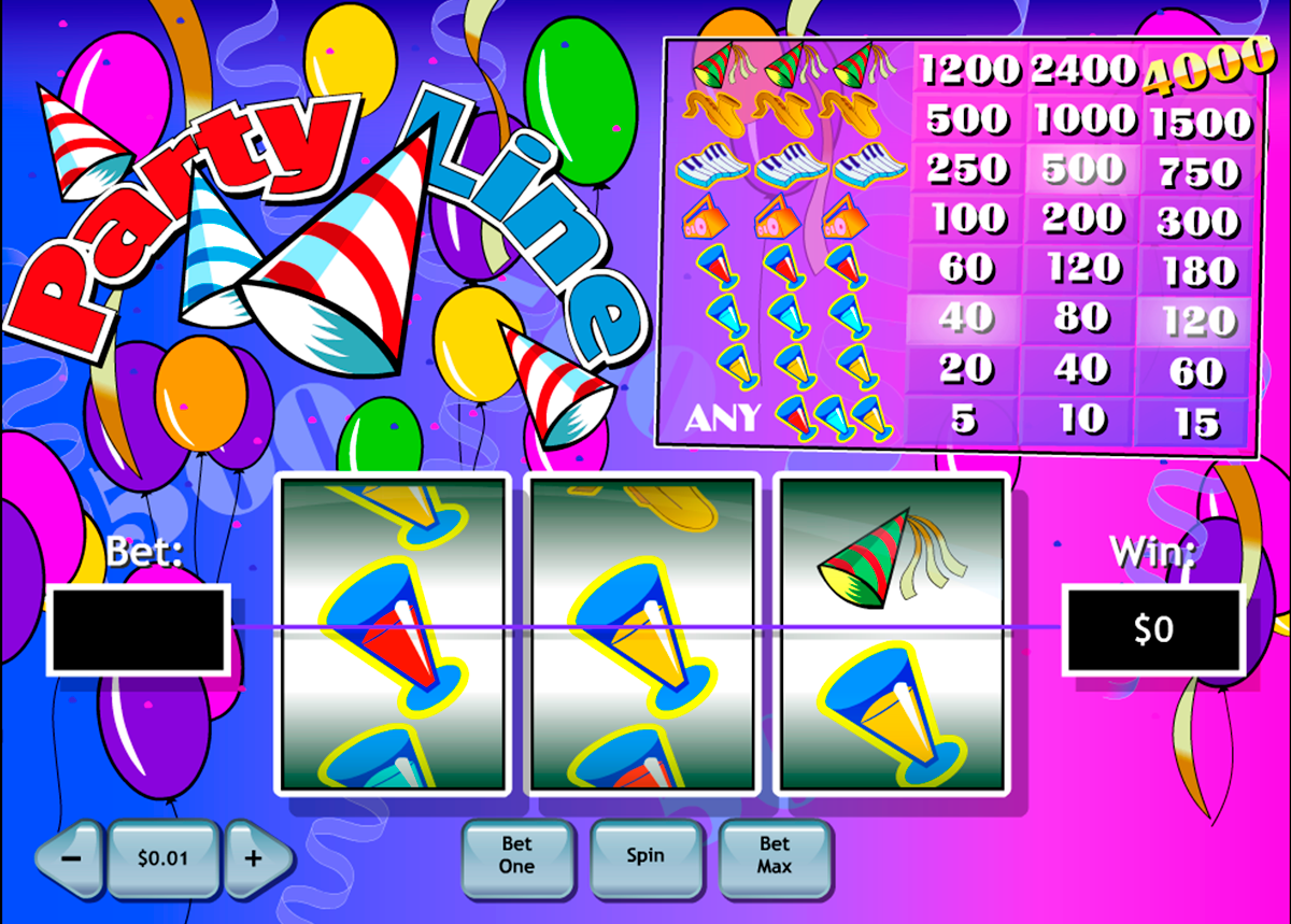 party line playtech online slots