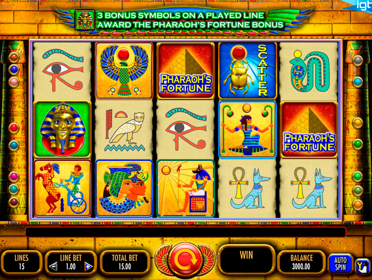 pharaohs fortune igt online slots