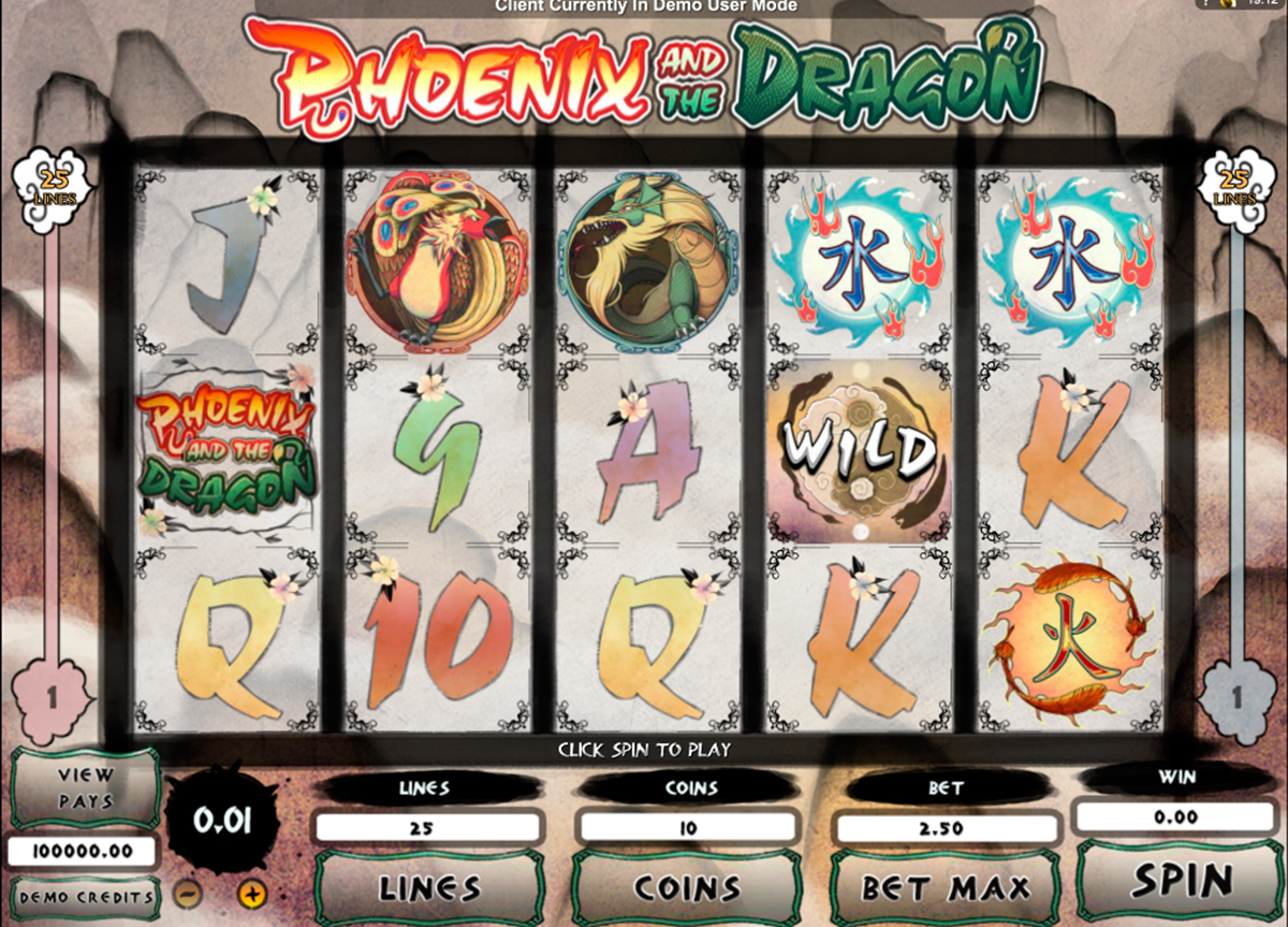 phoenix and the dragon microgaming online slots