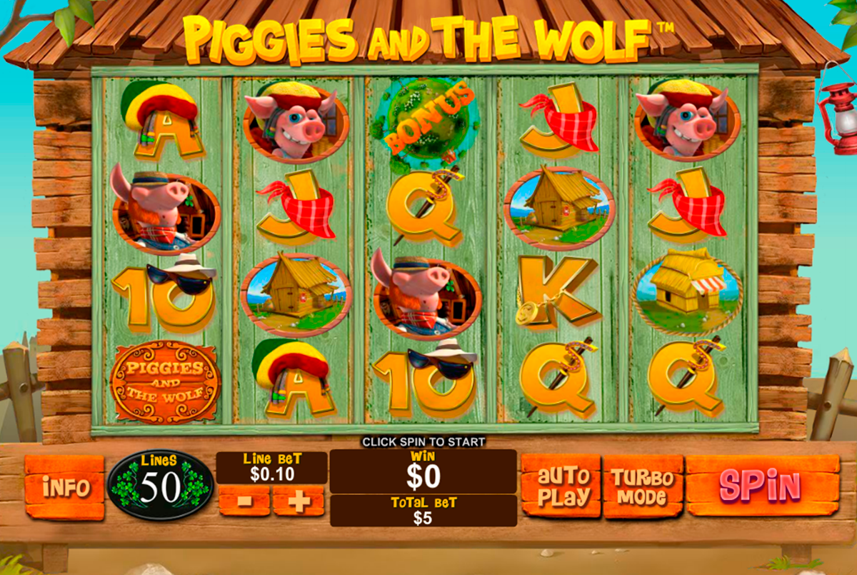 piggies and the wolf playtech online slots