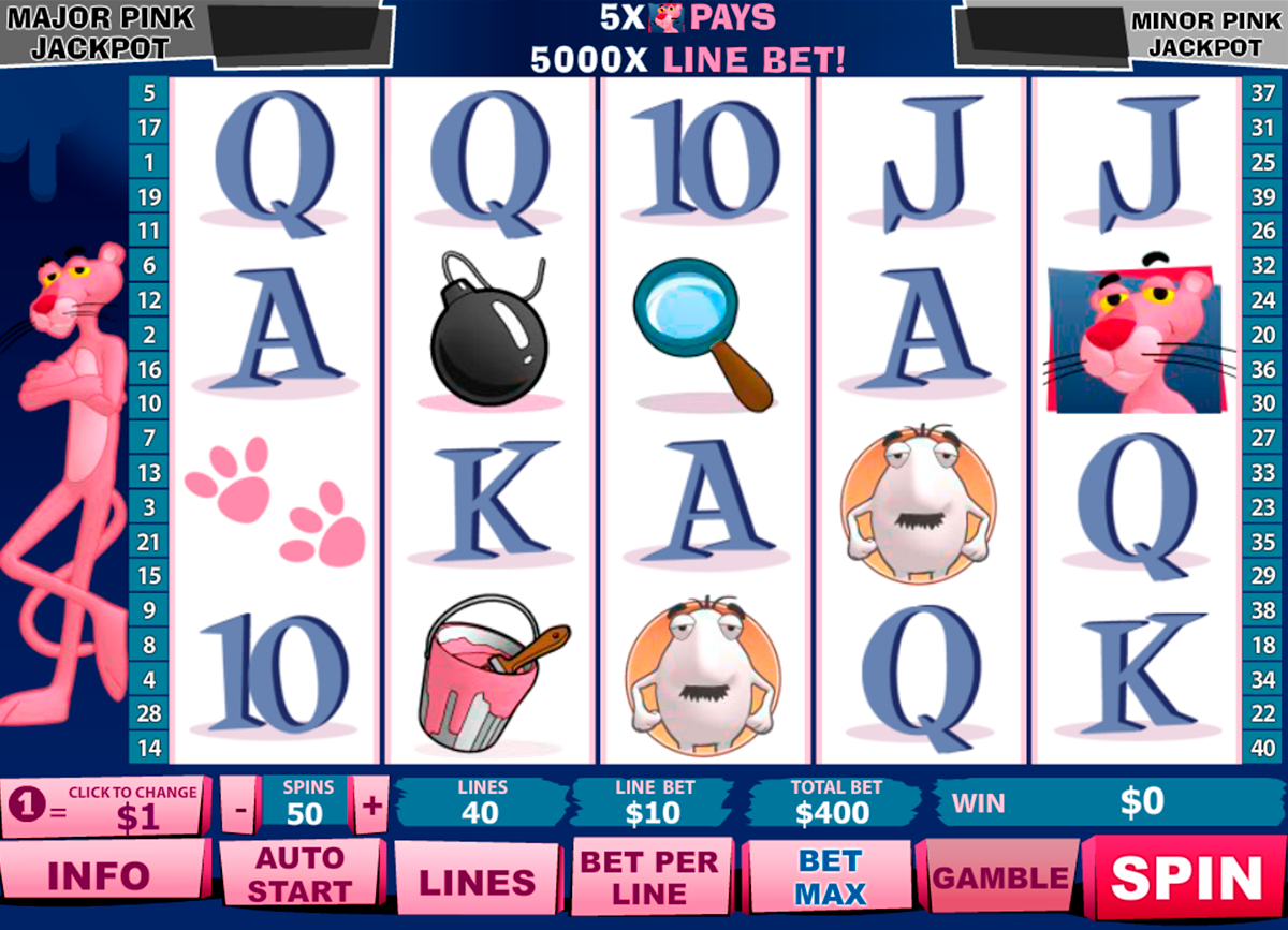 pink panther playtech online slots