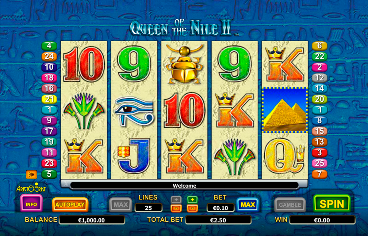 queen of the nile ii aristocrat online slots