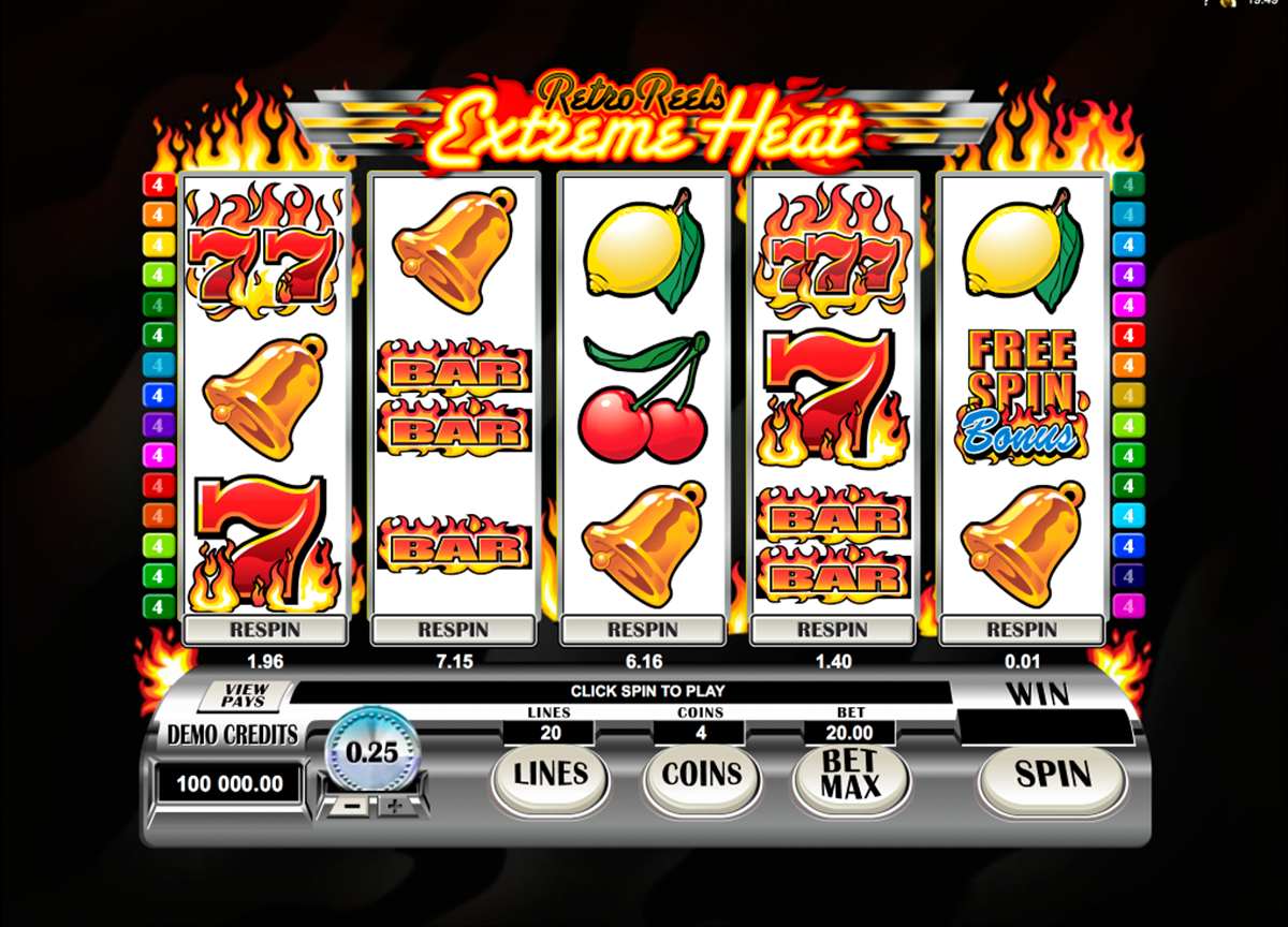 retro reels extreme heat microgaming online slots