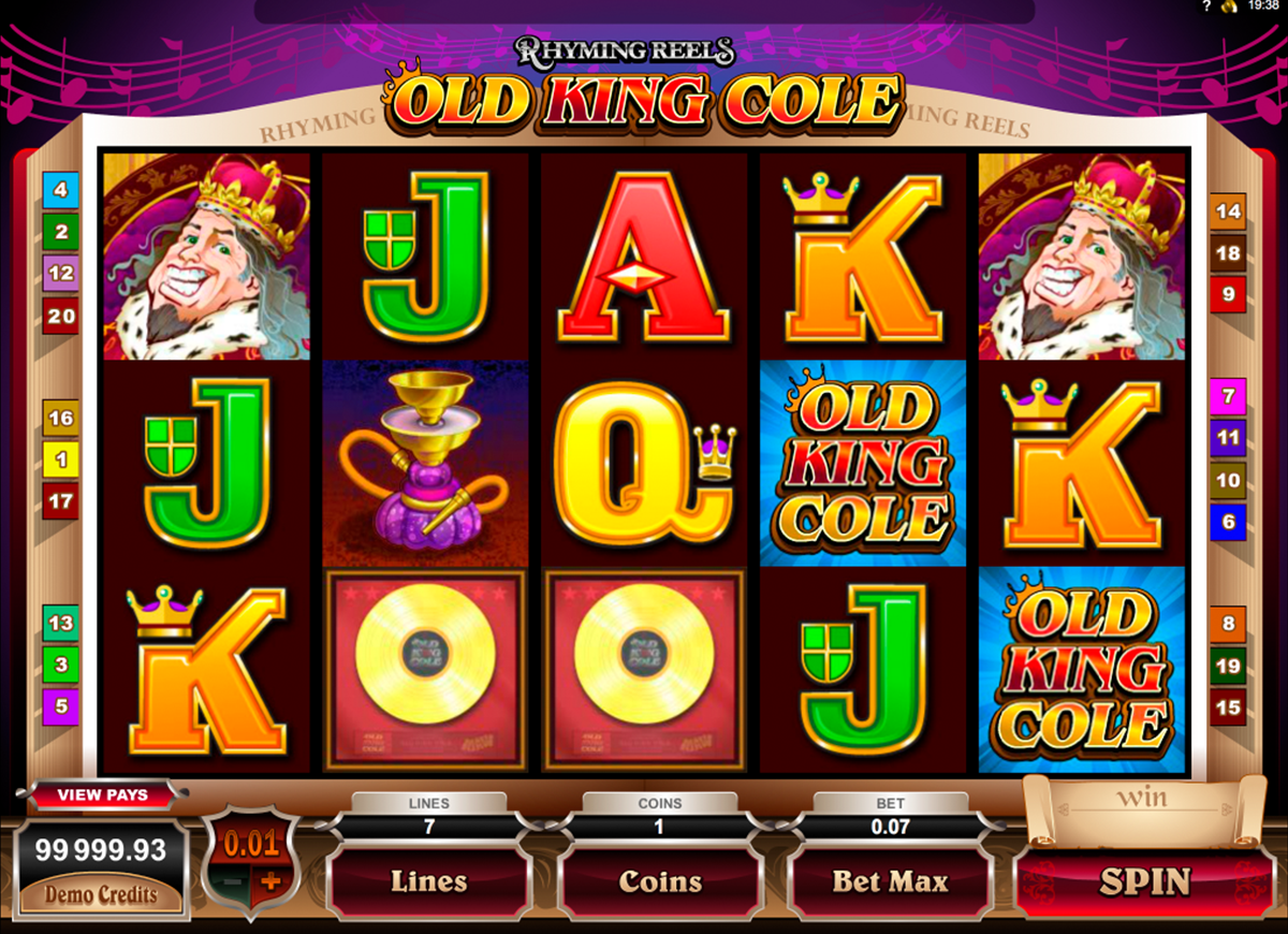 rhyming reels old king cole microgaming online slots