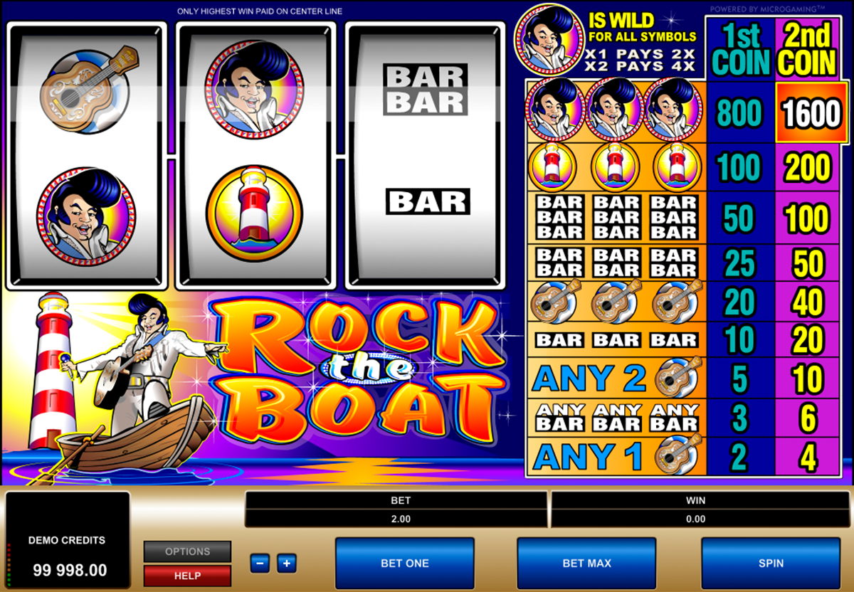 rock the boat microgaming online slots