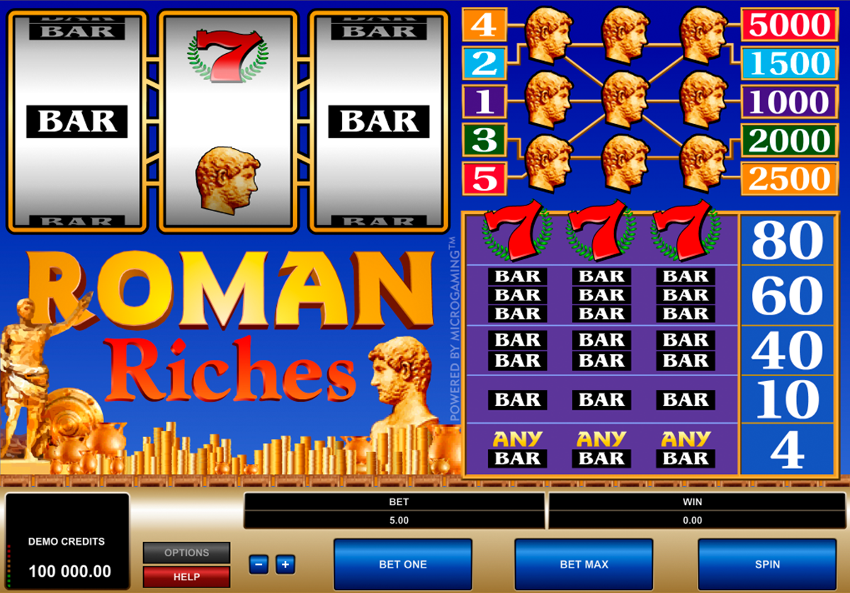 roman riches microgaming online slots