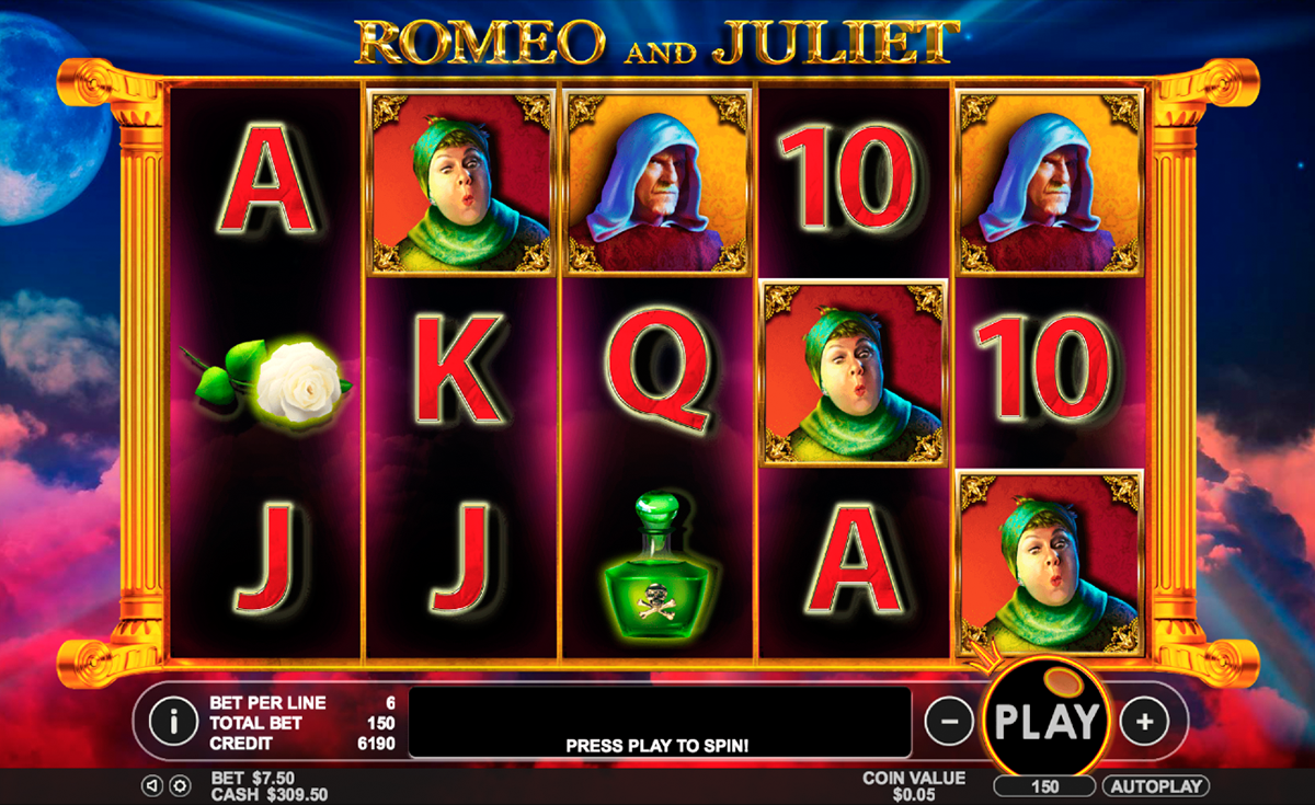 romeo and juliet pragmatic online slots