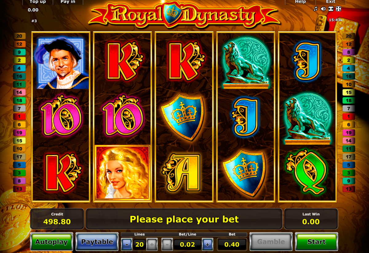 royal dynasty novomatic online slots