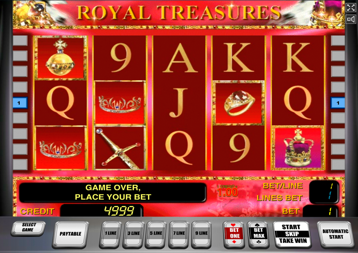 royal treasures novomatic online slots