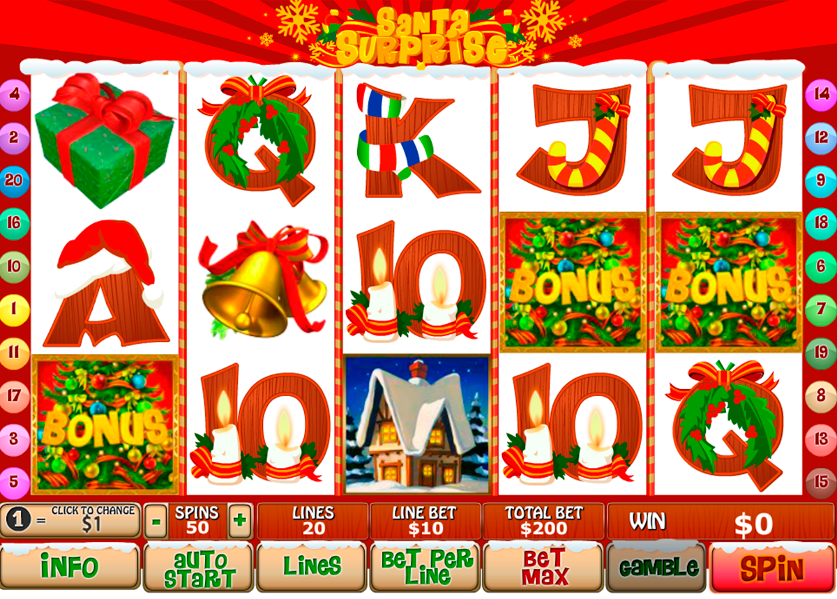 santa surprise playtech online slots