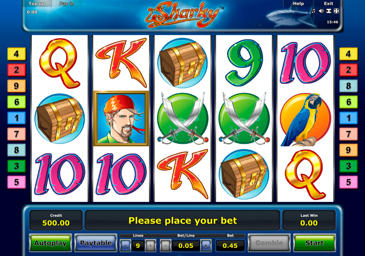 Sharky online slot game