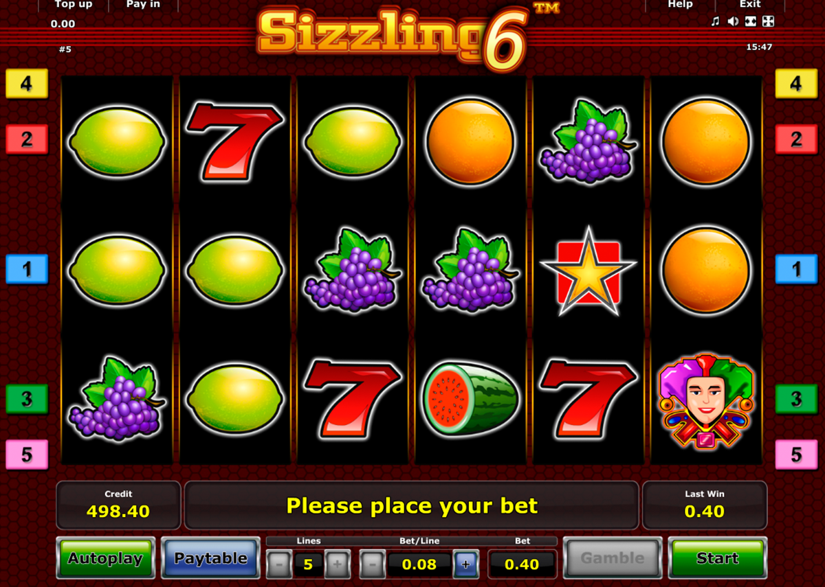 Sizzling Slots Free Games