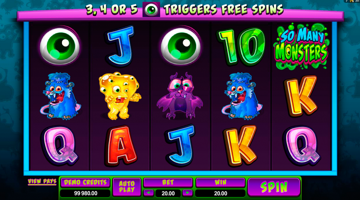 so many monsters microgaming online slots