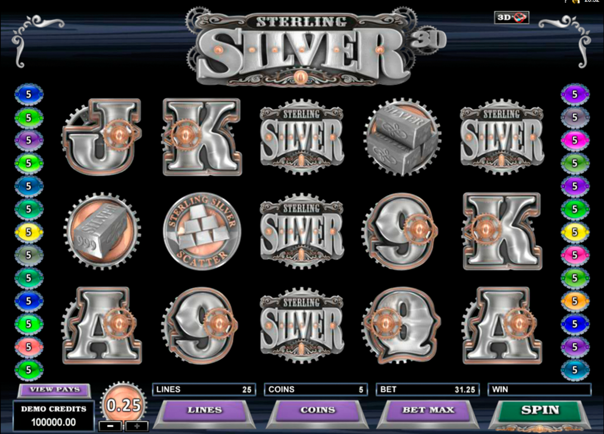 sterling silver 3d microgaming online slots