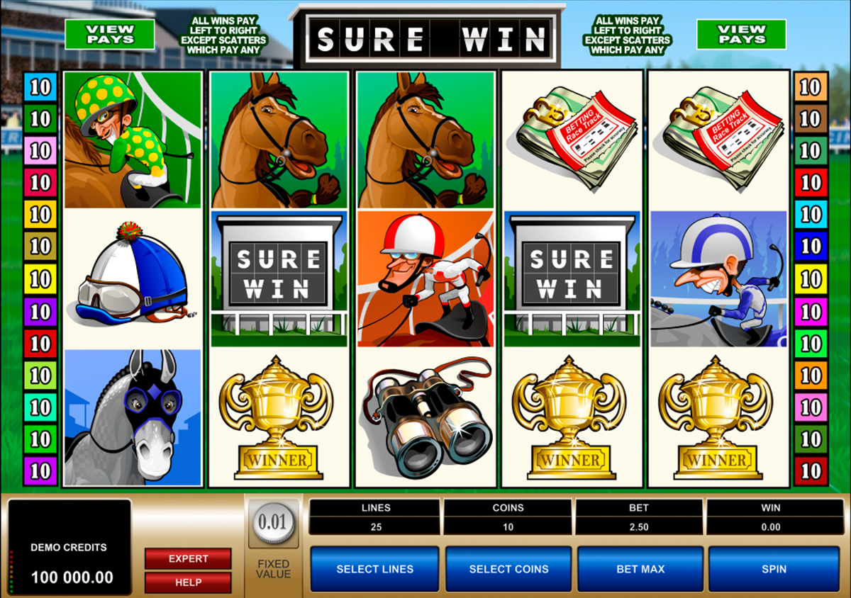 sure win microgaming online slots
