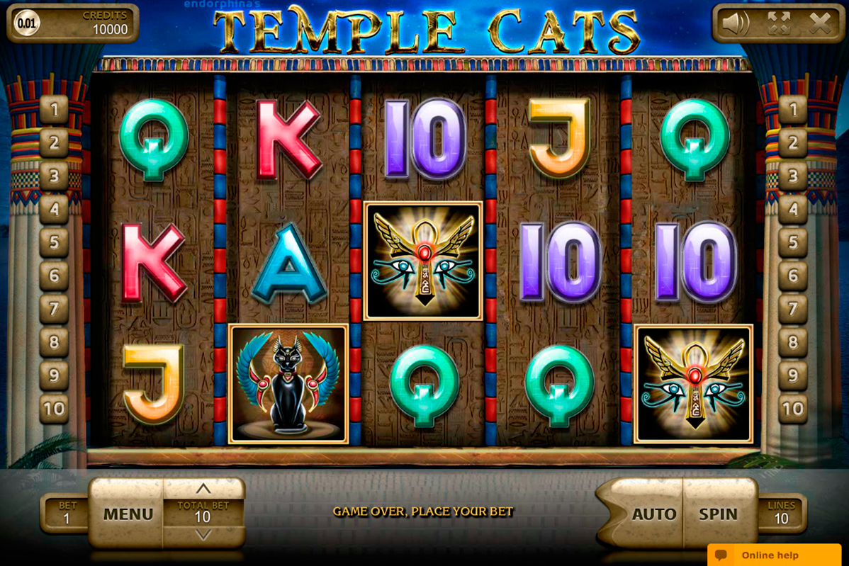 temple cats endorphina online slots