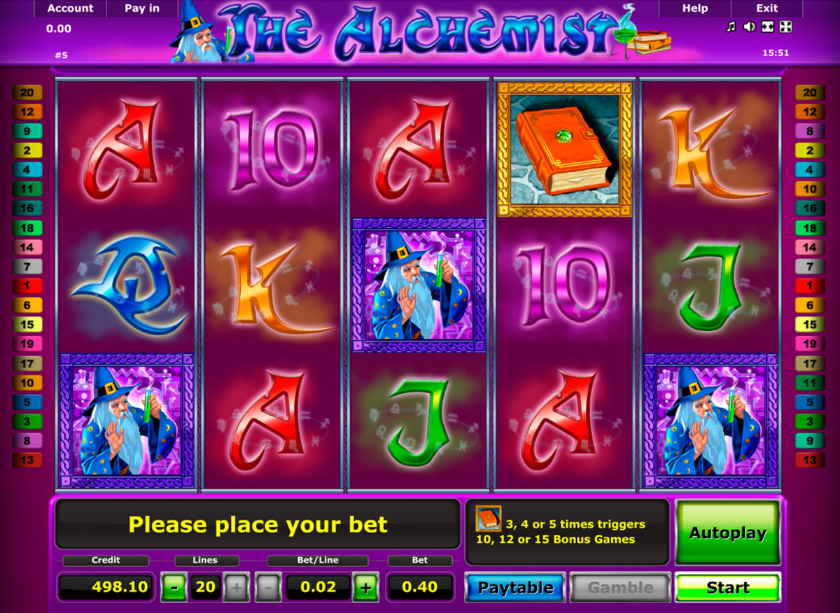 the alchemist novomatic online slots