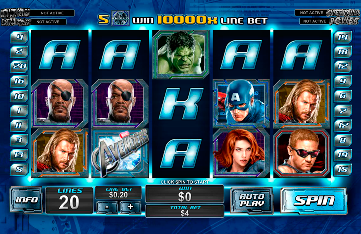 the avengers playtech online slots