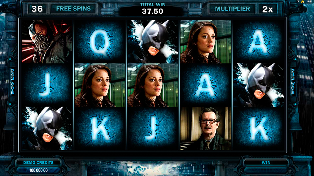 the dark knight rises microgaming online slots