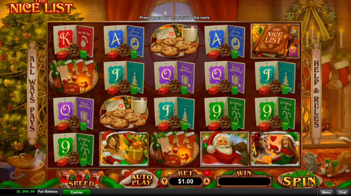the nice list rtg online slots