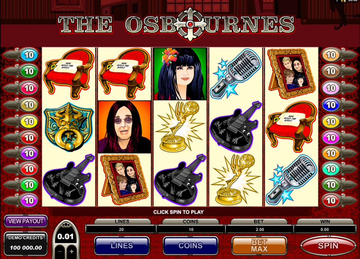 the osbournes microgaming online slots