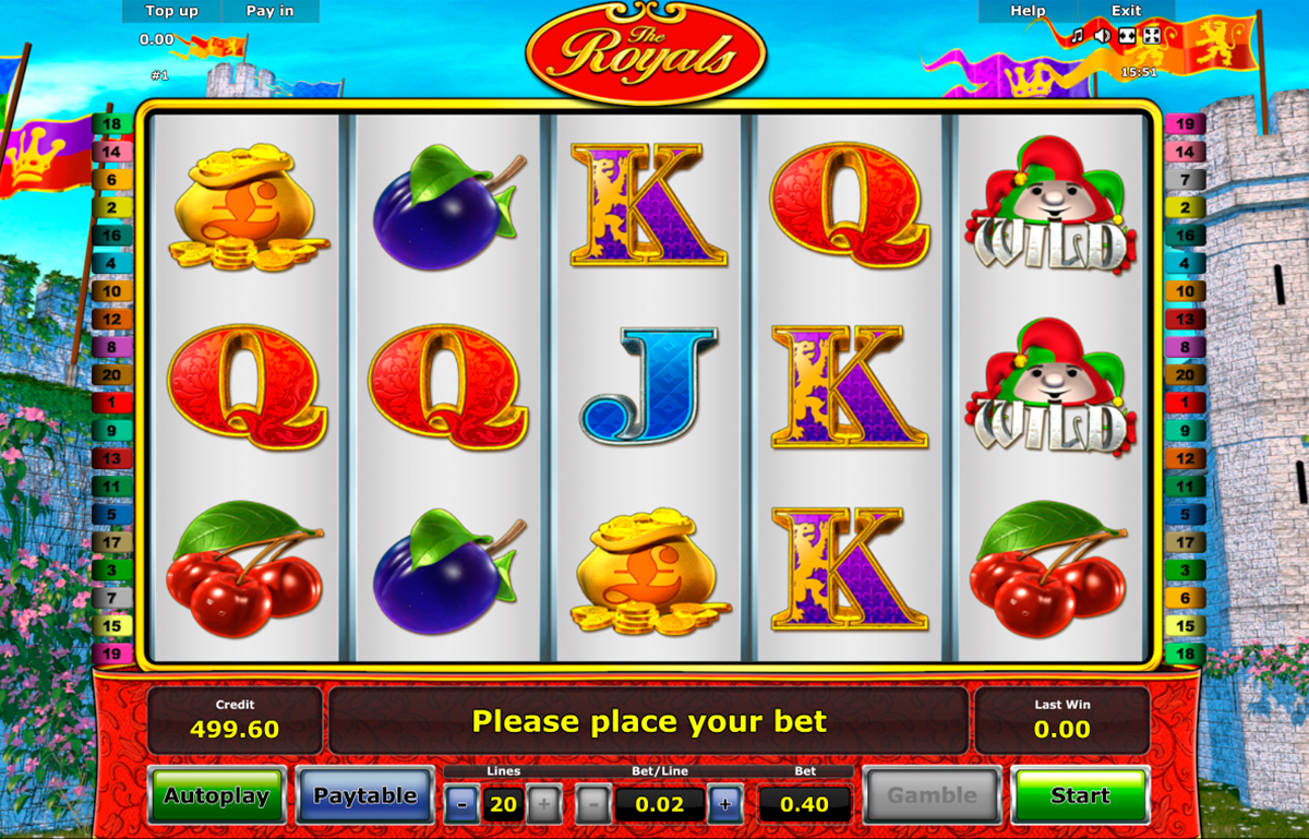 the royals novomatic online slots